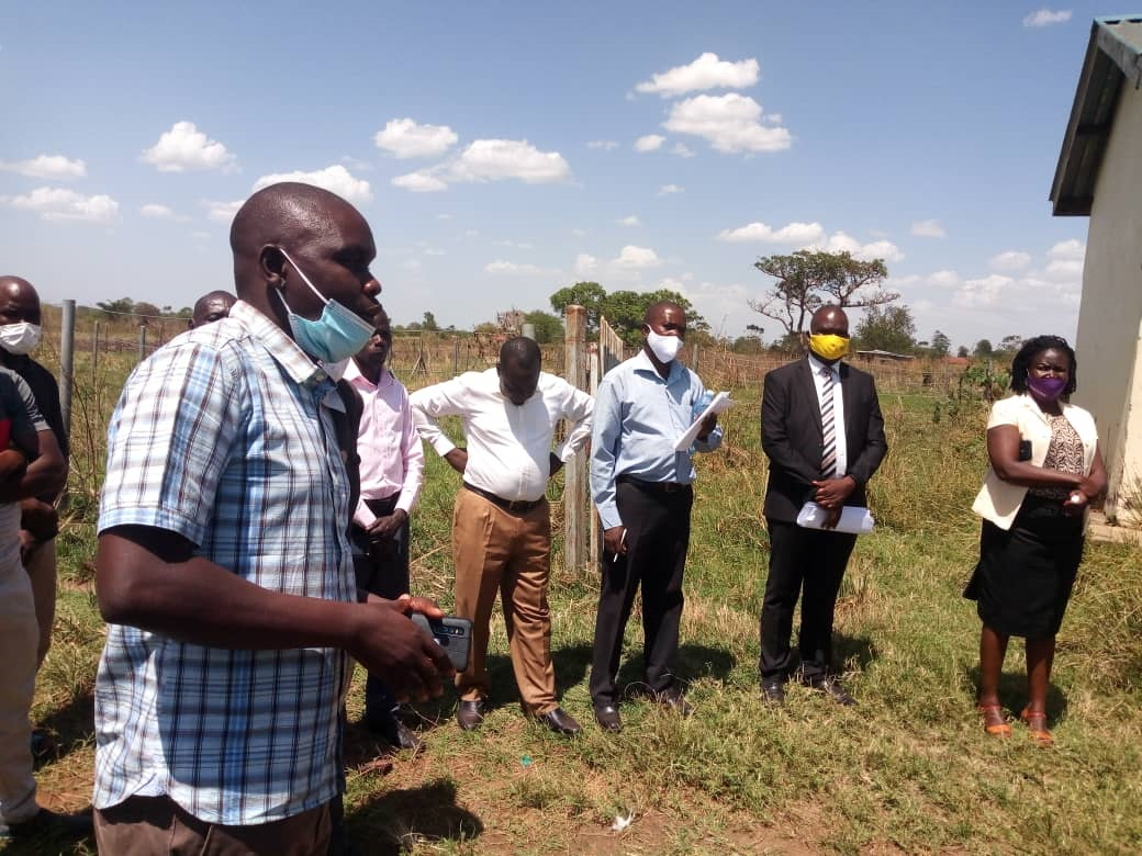 The Contractor of Obalanga market in Kapelebyong district speaking about the project