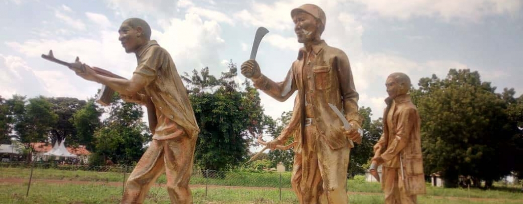 Arrow Boys Monument in Eastern Uganda Kapelebyong district